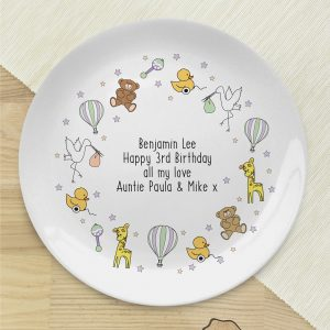 Personalised Nursery Scene Bone China Plate