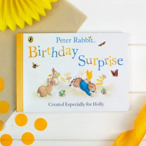 Personalised Peter Rabbit Birthday Surprise Board Book