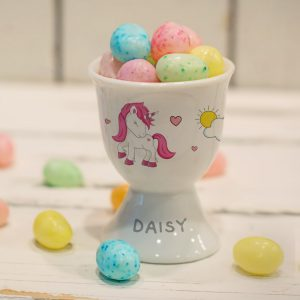 Personalised Unicorn Footed Egg Cup
