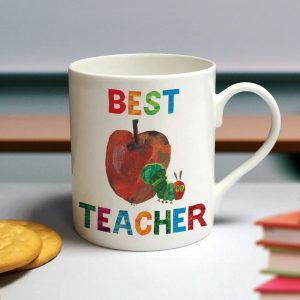 Personalised Very Hungry Caterpillar Best Teacher Large Balmoral Mug