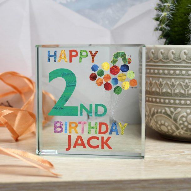 Personalised Very Hungry Caterpillar Birthday Jade Block