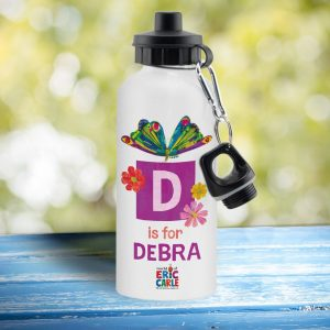 Personalised Very Hungry Caterpillar Initial Butterfly Drinks Bottle