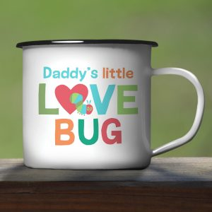 Personalised Very Hungry Caterpillar Love Bug Enamel Mug