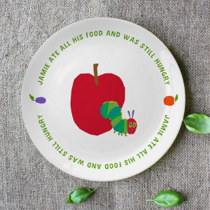 Personalised Very Hungry Caterpillar Still Hungry Plate
