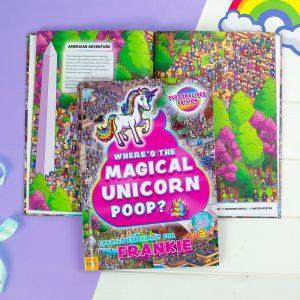 Personalised Where's The Magical Unicorn Poop Softback Book
