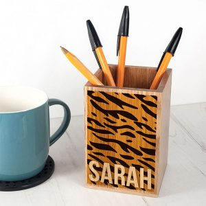 Personalised Animal Print Pen Pot