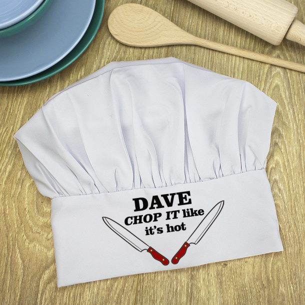 Personalised Chop It Like It's Hot Chef Hat