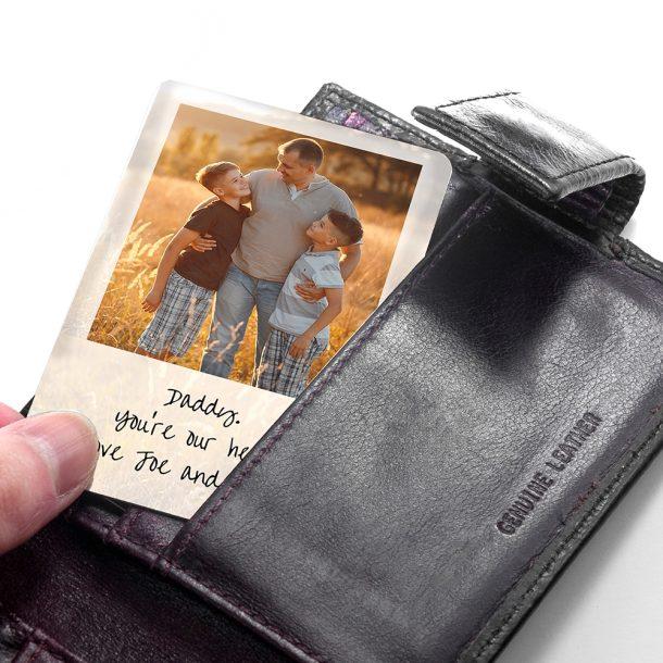 Personalised Dad's Photographic Wallet Keepsake