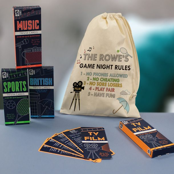 Personalised Family Games Night Bag