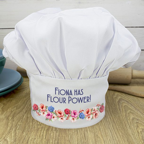 Personalised Flour Power Chef Hat