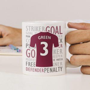 Personalised Football Shirt Ceramic Mug