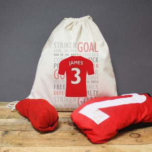 Personalised Football Shirt Drawstring Bag