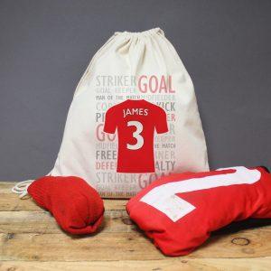 Personalised Football Shirt Drawstring Bag