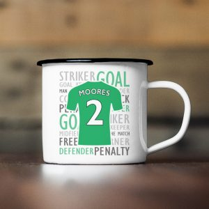 Personalised Football Shirt Enamel Mug