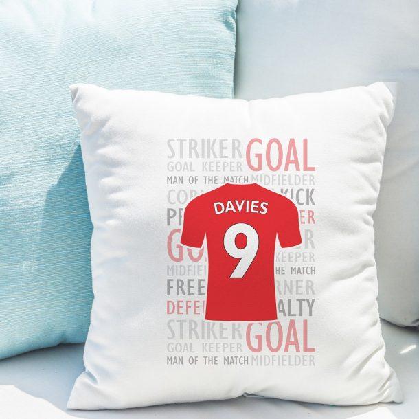 Personalised Football Shirt Filled Cushion