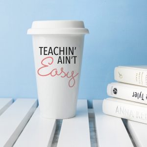 Personalised It Ain't Easy Ceramic Travel Mug