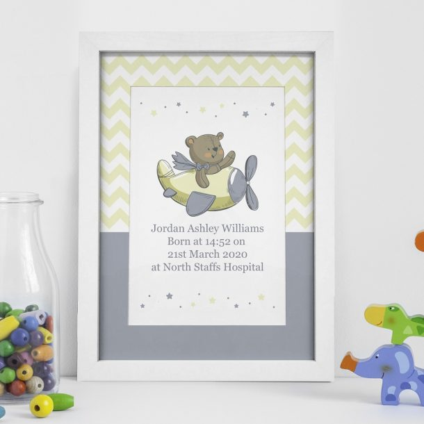 Personalised Little Bear A4 Framed Print