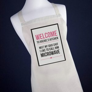 Personalised Microwave Apron - Pink