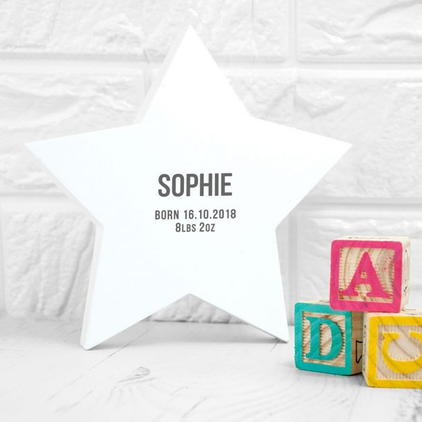 Personalised Newborn Baby Star Keepsake