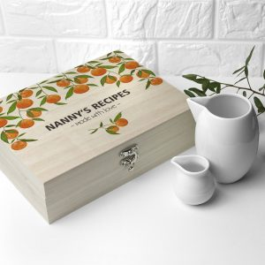 Personalised Orange Grove Recipe Box