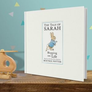 Personalised Peter Rabbit Hopping Into Life Book