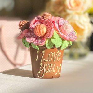 Personalised Pink Smash Flower Pot