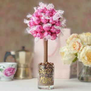 Personalised Pink Strawberries & Cream Lindor Sweet Trees