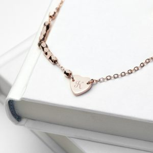 Personalised Heart Charm Bracelet