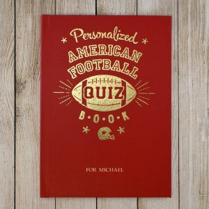 Personalised American Football Quiz Book