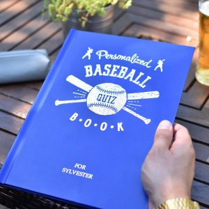 Personalised Baseball Quiz Book