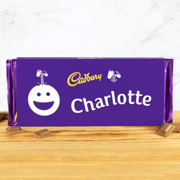 Personalised Cadbury Dairy Milk 360g Smiley Face