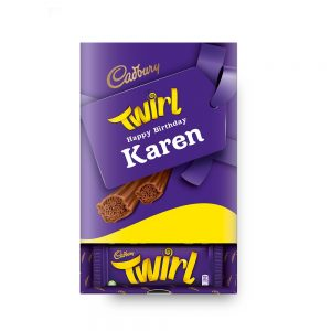 Personalised Cadbury Twirl Box