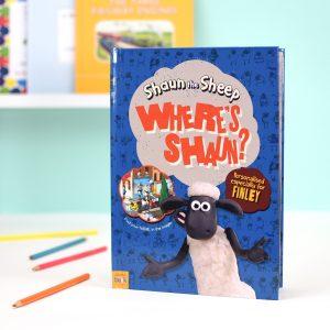 Personalised Where's Shaun Softback Book