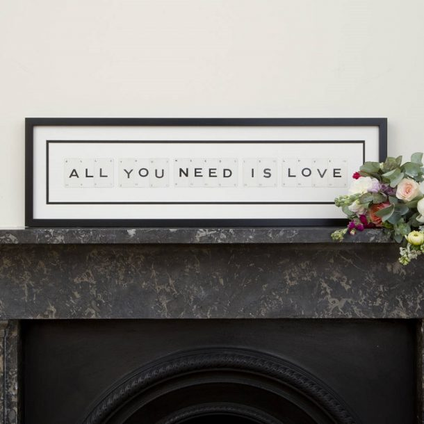 All You Need Is Love Vintage Card Frame