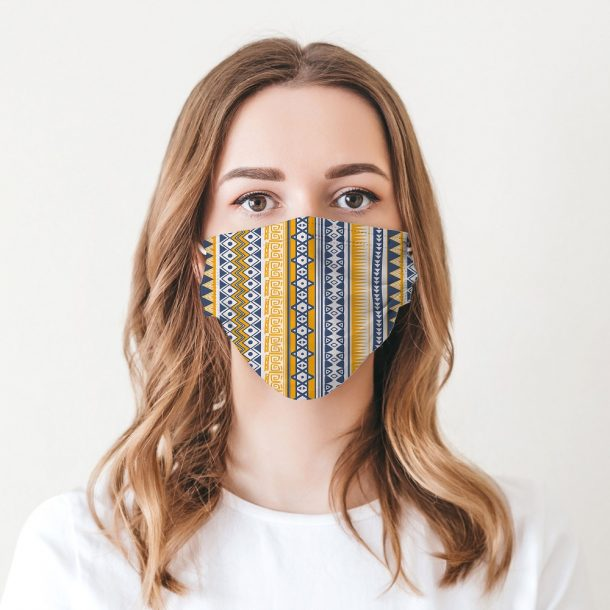 Aztec Printed Face Mask