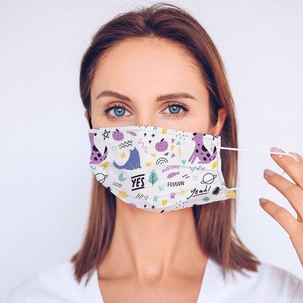 Fun Pets Printed Face Mask