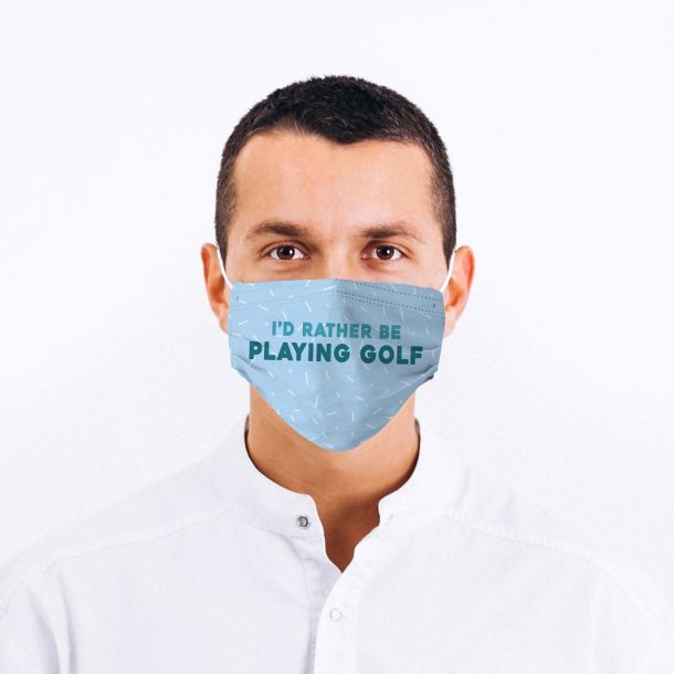 Golf Fan Printed Face Mask