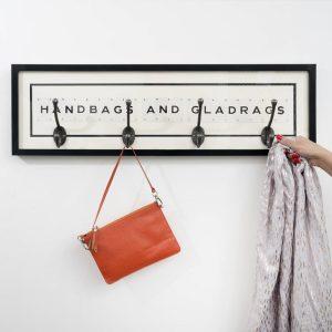 Handbags and Gladrags Vintage Card Coat Rack