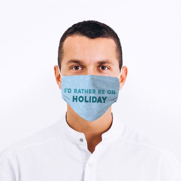 Holiday Fan Printed Face Mask