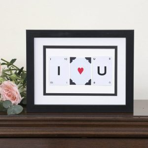 I Heart You Vintage Card Frame