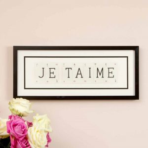 Je T'aime Vintage Playing Cards Frame