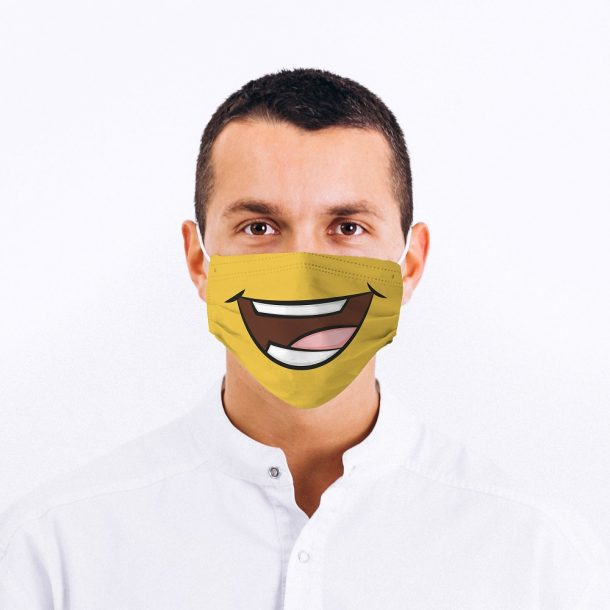Keep Smiling Printed Face Mask