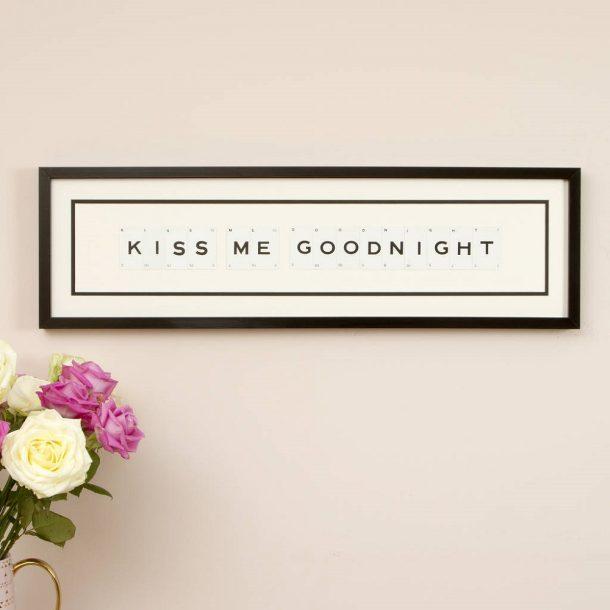 Kiss Me Goodnight Vintage Card Frame
