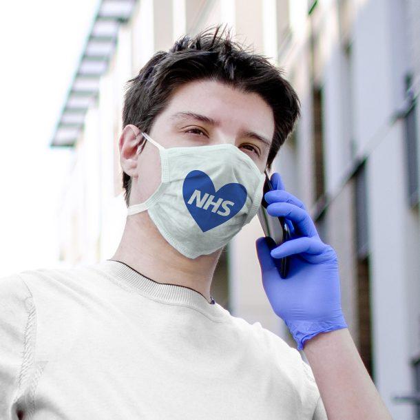 Love NHS Printed Face Mask