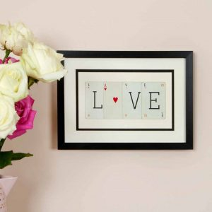 Love Vintage Card Frame