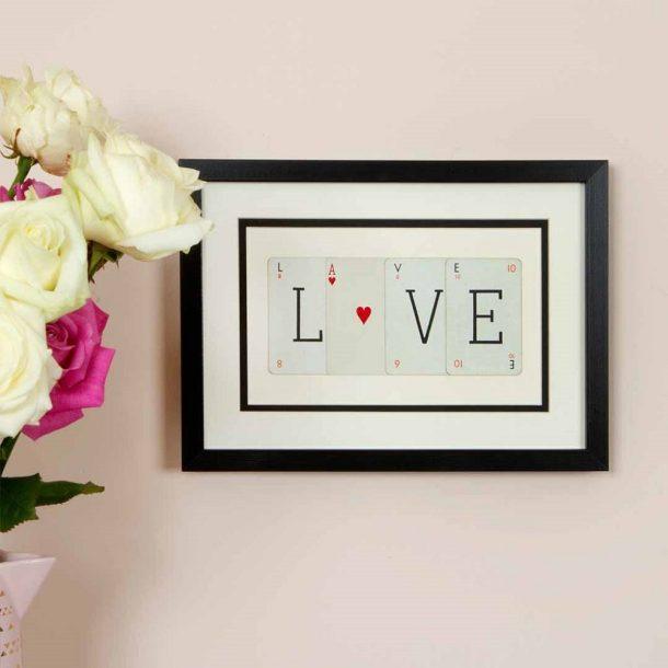 Love Vintage Card Frame