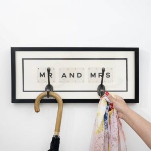 Mr and Mrs Hook Vintage Card Frame