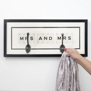 Mrs and Mrs Hook Vintage Card Frame