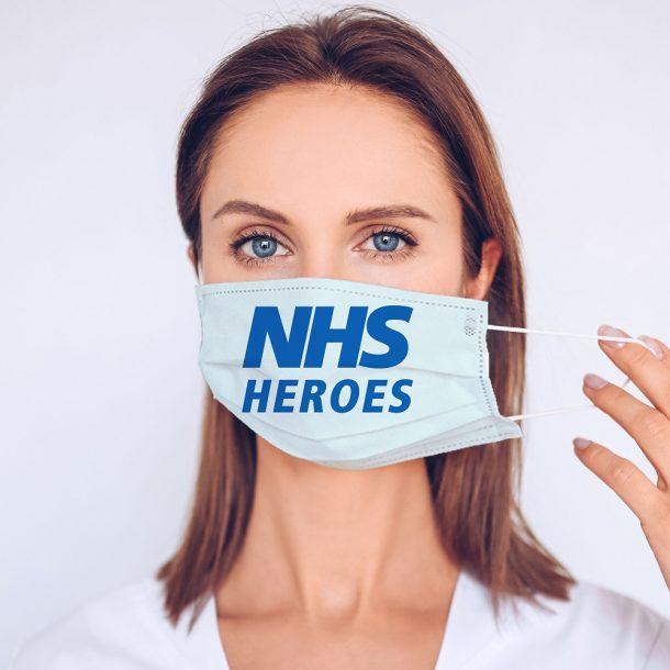 NHS Heroes Printed Face Mask