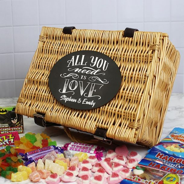 Personalised All You Need Is Love Sweet Hamper
